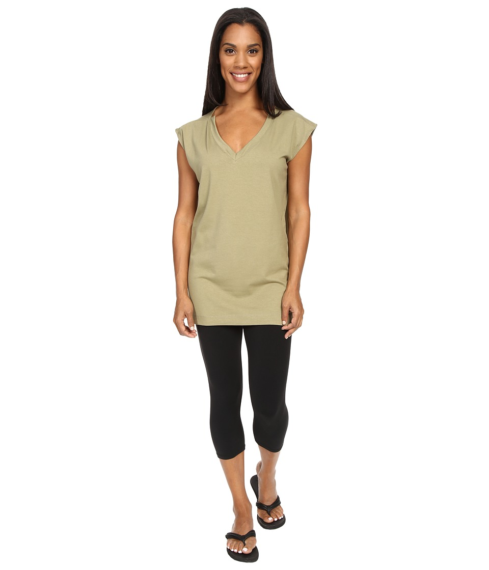 FIG Clothing - Val Tunic (Ginseng) Women's Short Sleeve Pullover