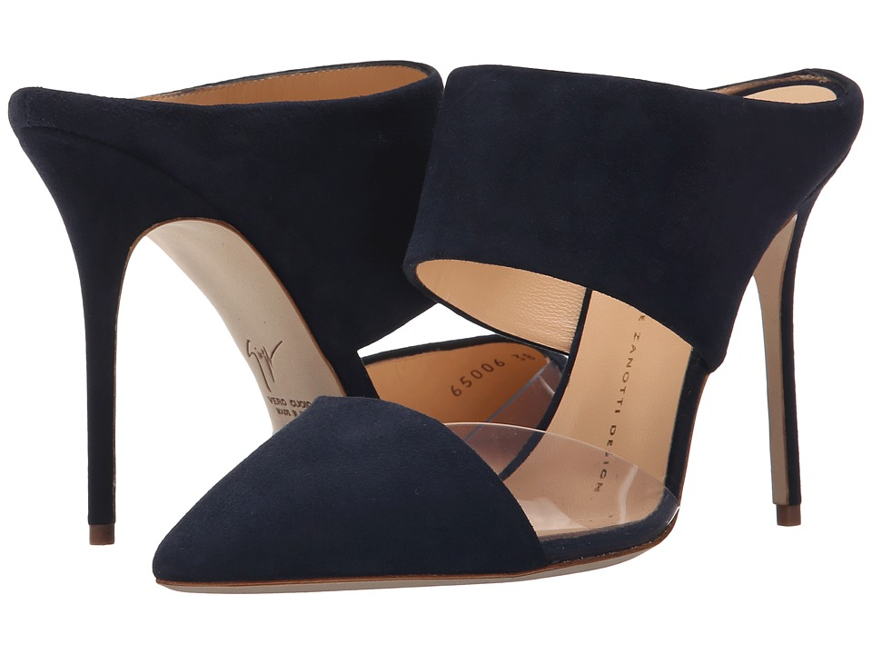 Giuseppe Zanotti - Two Piece Mule w/ PVC (Navy) High Heels