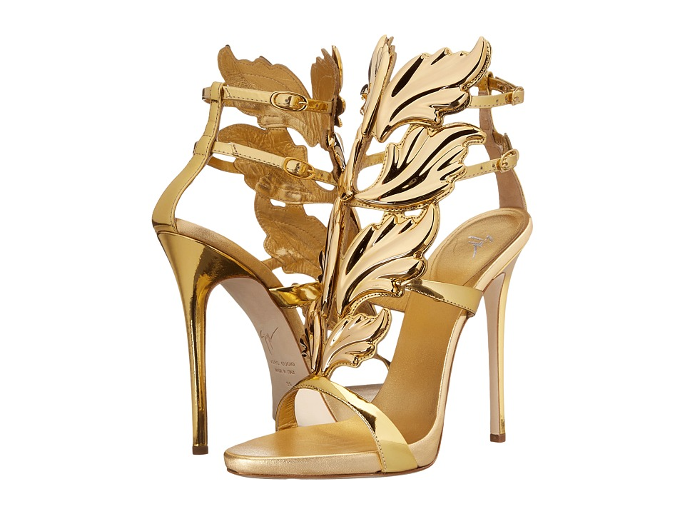 Giuseppe Zanotti - Patent Winged Sandal (Shooting Oro) Women's Shoes