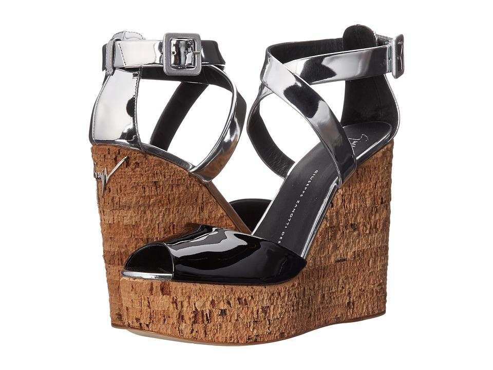 Giuseppe Zanotti - Two-Tone Criss-Cross (Ver Nera) Women's Wedge Shoes
