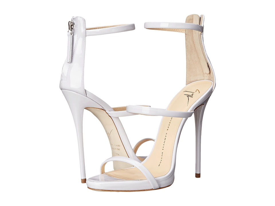 Giuseppe Zanotti High Heel Back-Zip Three-Strap Sandal (Ver Ice) Women