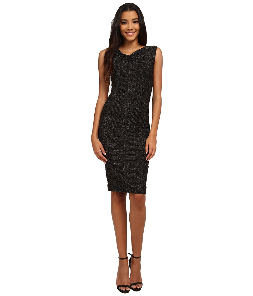 Nicole Miller - Metallic Stretch Party Sheath Dress (Black) Women's Dress