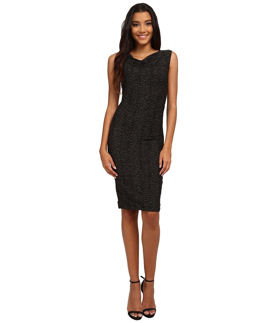 Nicole Miller - Metallic Stretch Party Sheath Dress (Black) Women's Dress