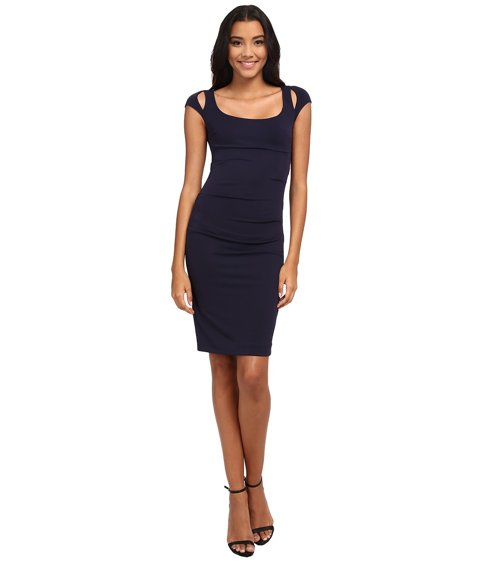 Nicole Miller - Peeking Tuck Dress (Navy) Women's Dress