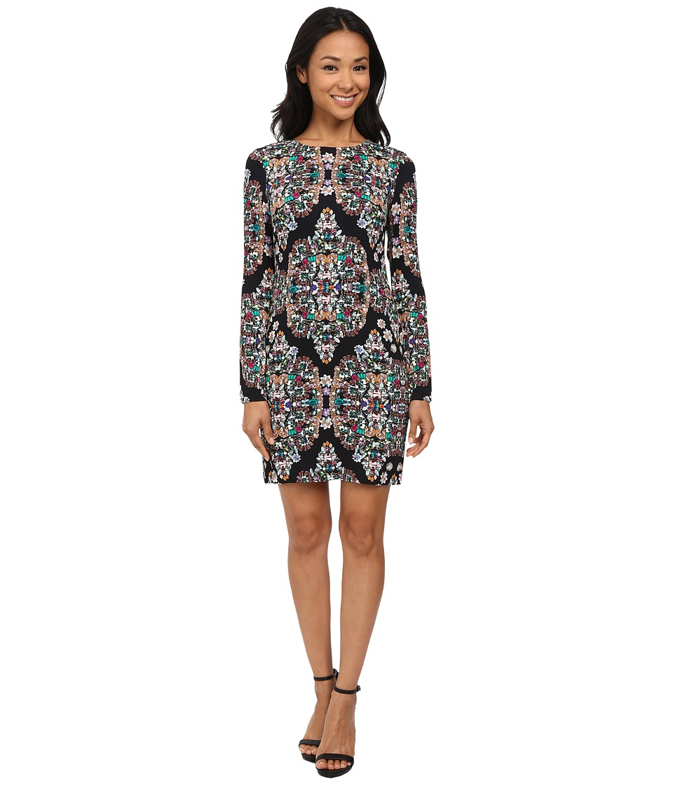 Nicole Miller - Mercedes Resplendent Long Sleeve Dress (Multi) Women