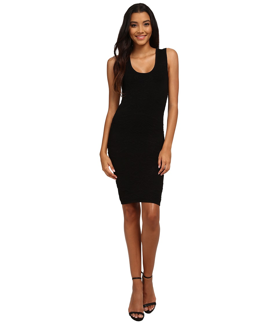 Nicole Miller Knit Textured Tank Dress (Black) Women