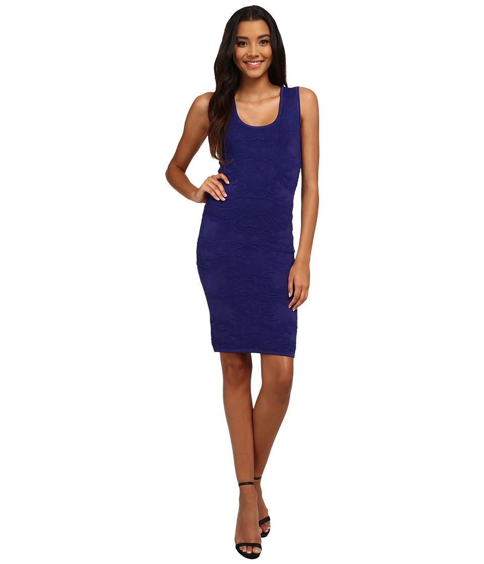 Nicole Miller Knit Textured Tank Dress (Cobalt) Women