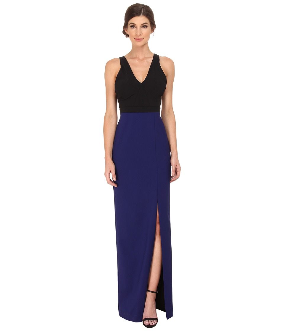 Nicole Miller - Cece Color Block Gown (Blue/Black) Women's Dress