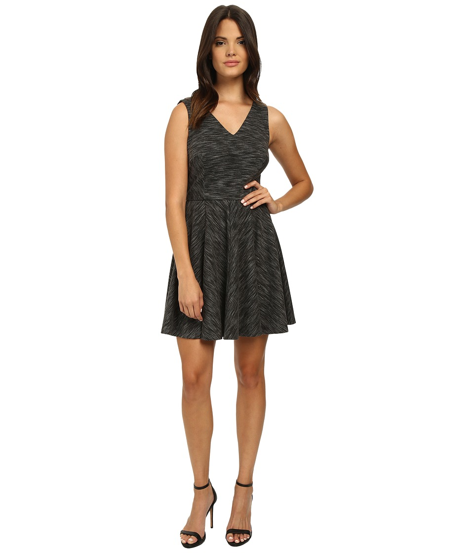 Nicole Miller Gweneth Flare Dress (Grey Multi) Women