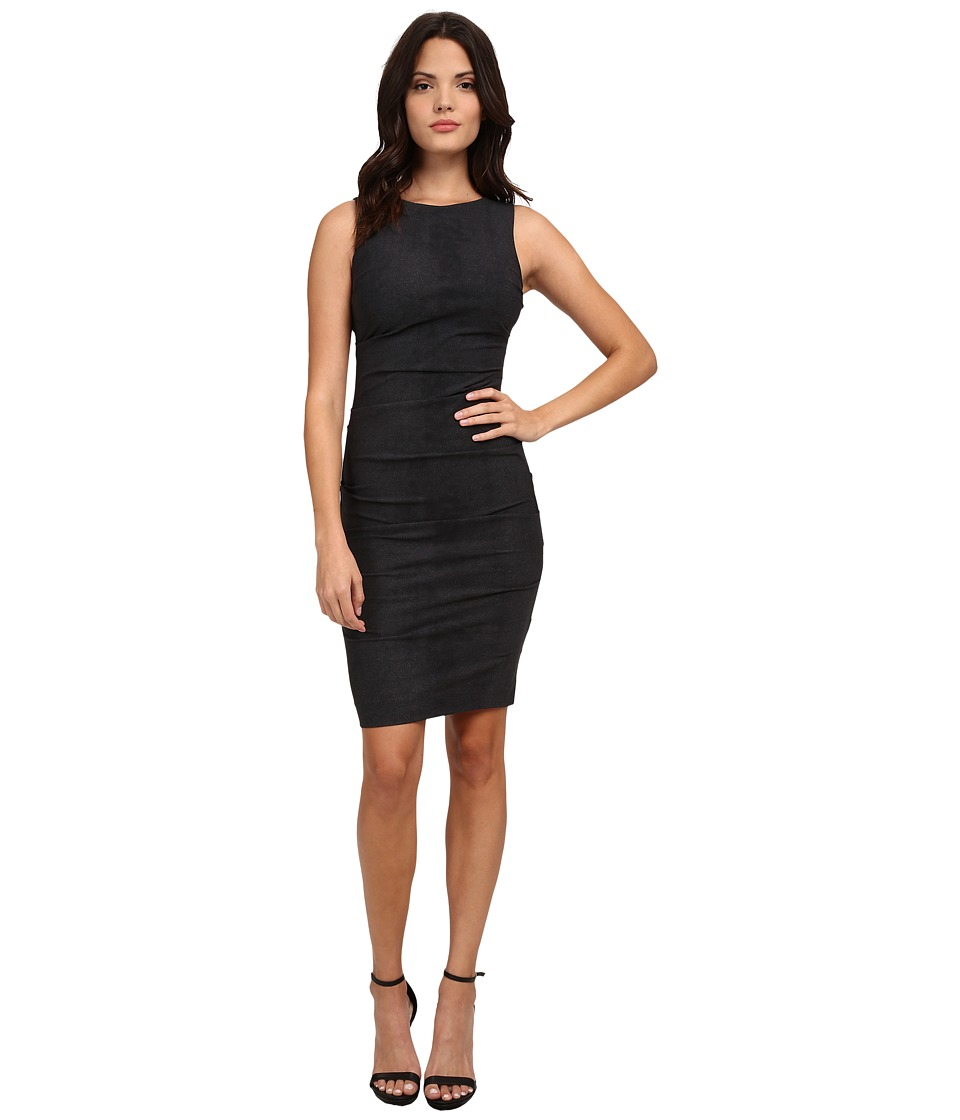 Nicole Miller City Stretch Lauren Sheath Dress (Charcoal) Women