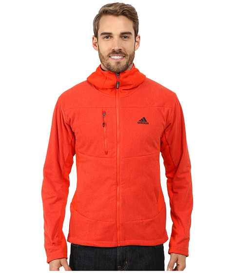 adidas Outdoor - Hiking Melange Fleece Hoodie (Light Scarlet) Men's Sweatshirt