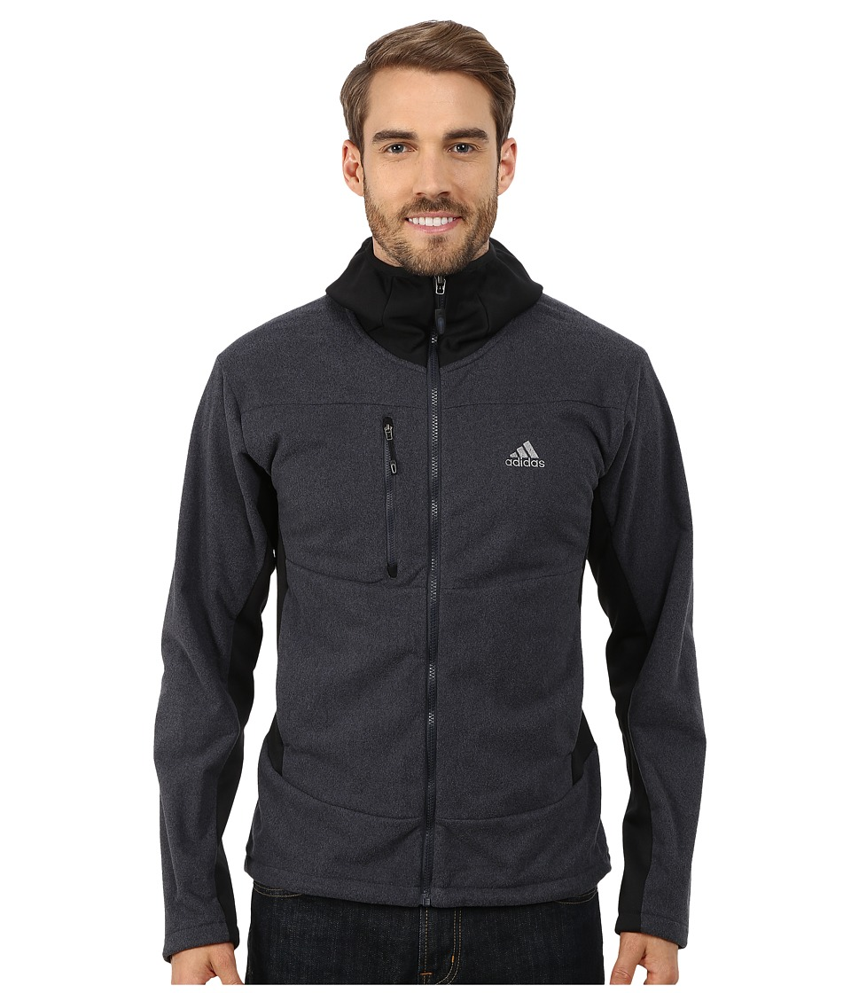 adidas Outdoor - Hiking Melange Fleece Hoodie (Black) Men