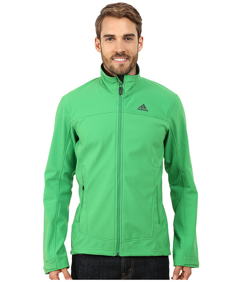 adidas Outdoor - Hiking Softshell Jacket (Real Green) Men's Coat