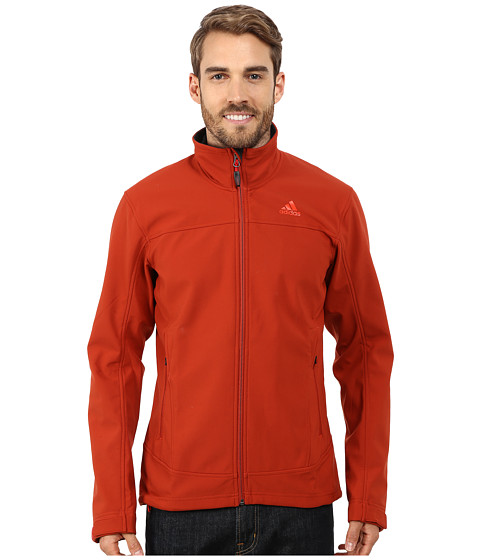 adidas Outdoor - Hiking Softshell Jacket (Tribe Orange) Men's Coat