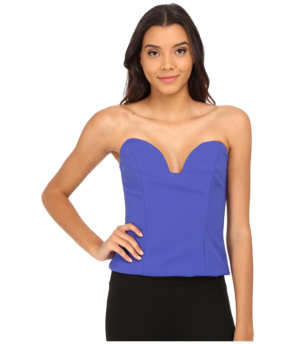Nicole Miller Casey Bustier Party Top (Cobalt) Women's Blouse