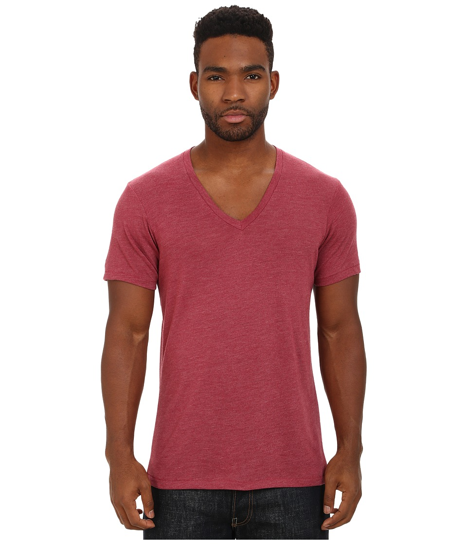 Alternative - Eco Jersey Boss V-Neck (Eco True Carmine) Men's Clothing