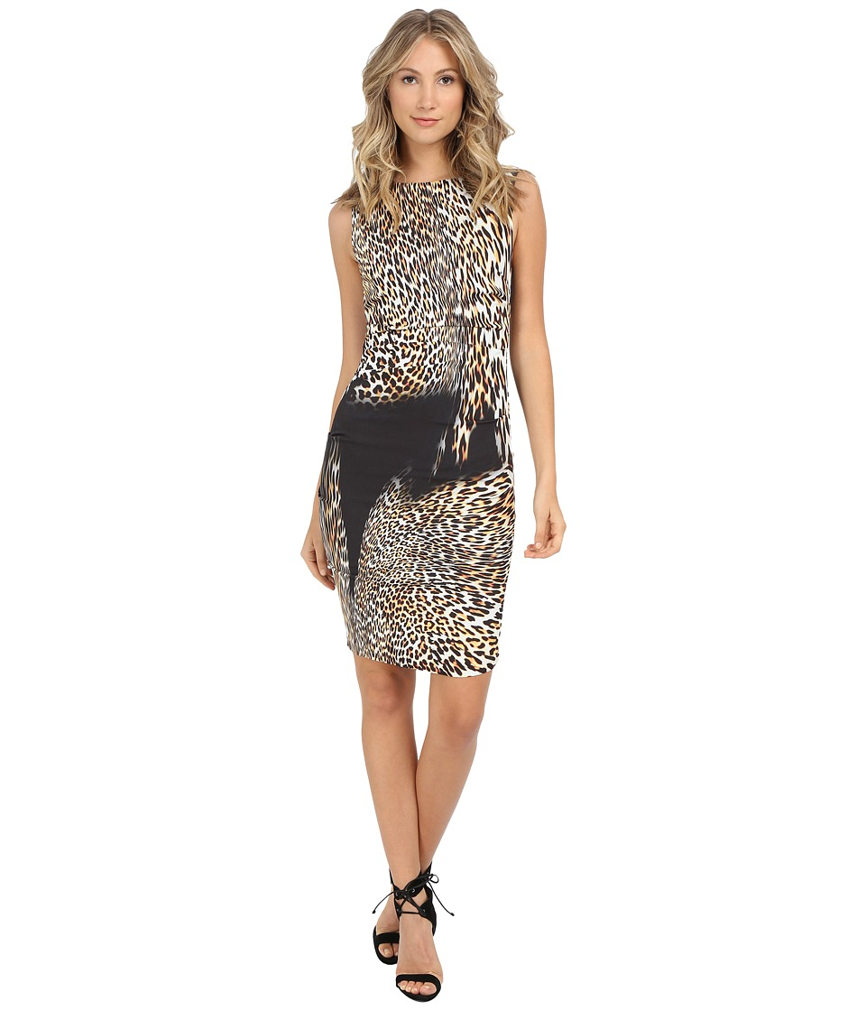 Nicole Miller Lauren Time Warp Leopard Dress (Multi) Women