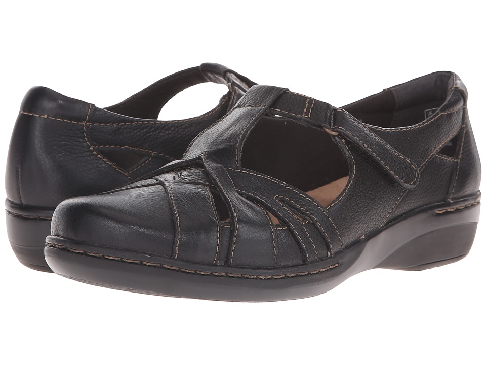 Clarks - Evianna Doyle (Black Leather) Women's Shoes