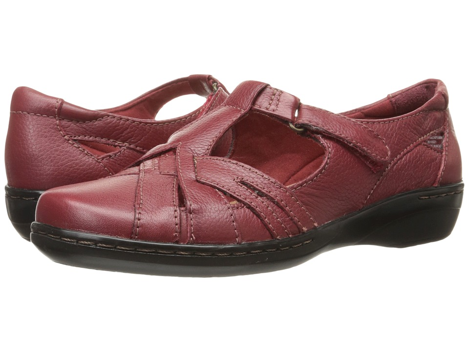 Clarks - Evianna Doyle (Red Leather) Women's Shoes
