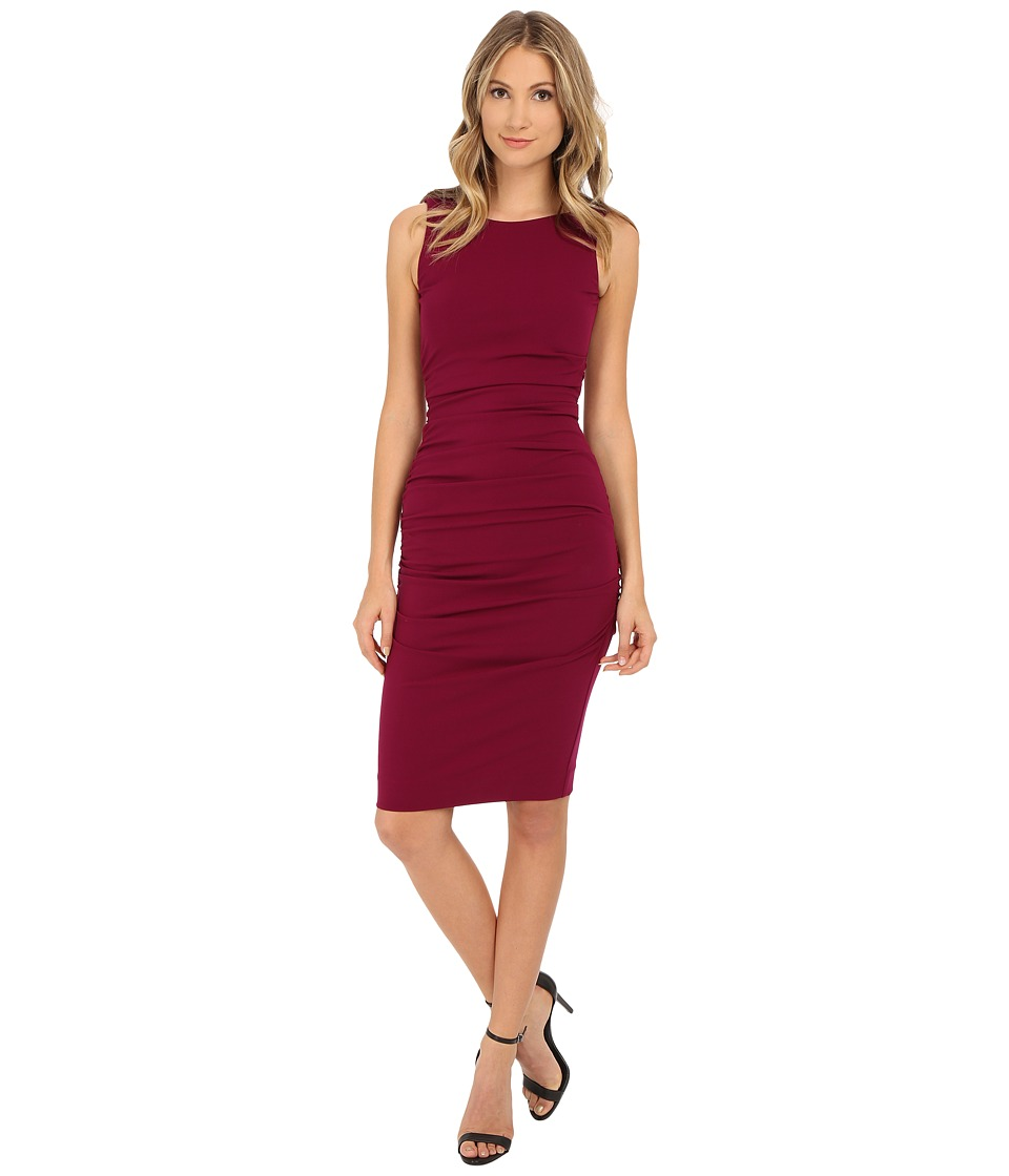 Nicole Miller - Structured Jersey Lauren Sheath (Berry) Women's Dress