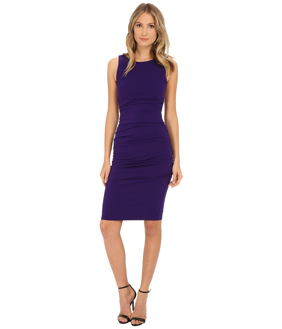 Nicole Miller - Structured Jersey Lauren Sheath (Majestic Purple) Women's Dress