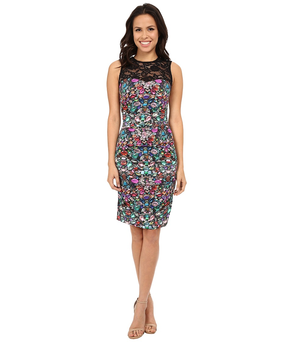 Nicole Miller Luxuriant and Lace Party Dress (Multi) Women