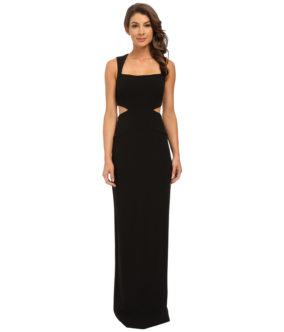 Nicole Miller - Queen of Felicity Cutout Gown (Black) Women's Dress