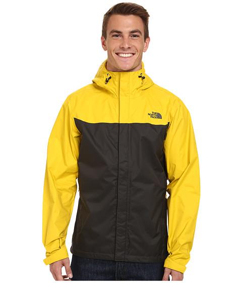 The North Face - Venture Jacket (Asphalt Grey/Sulphur Yellow) Men's Coat