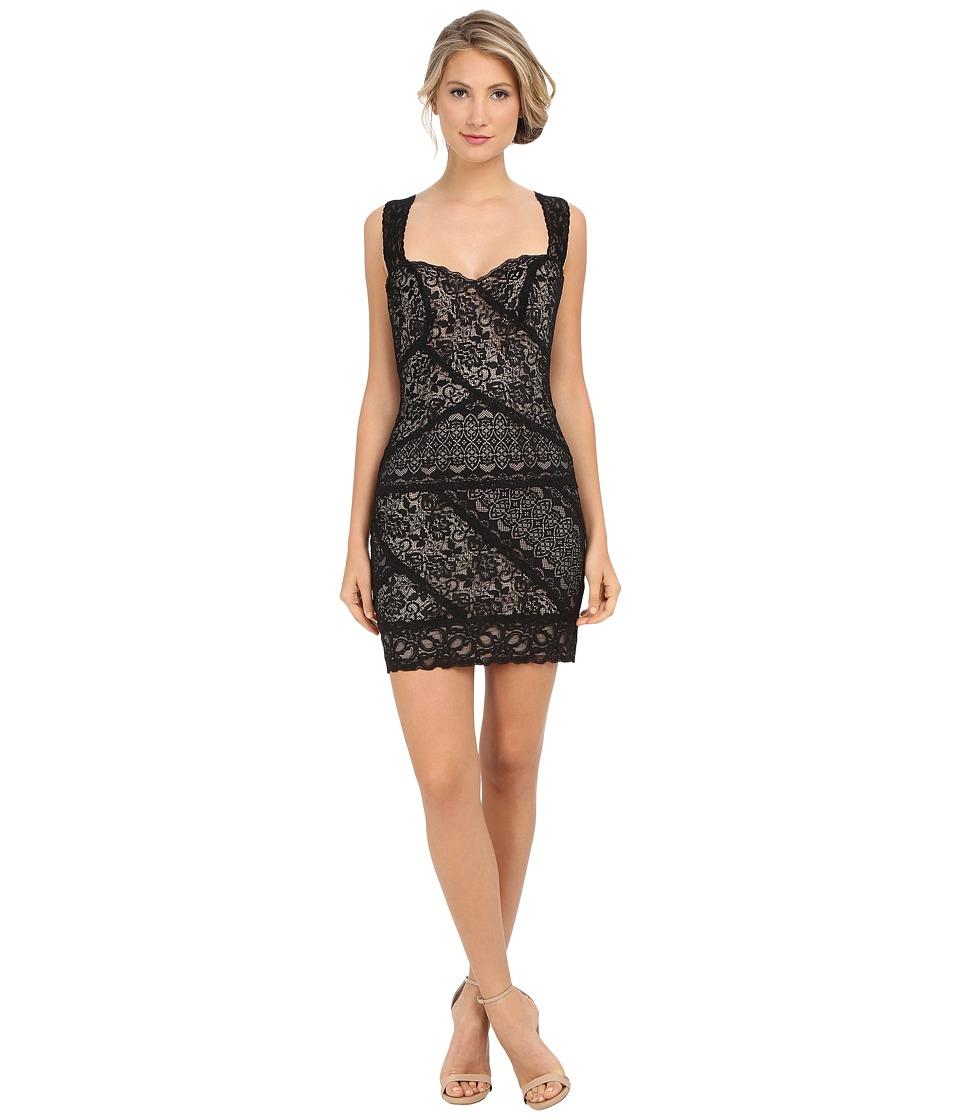 Nicole Miller - Stella Lace Dress (Black/Nude) Women's Dress