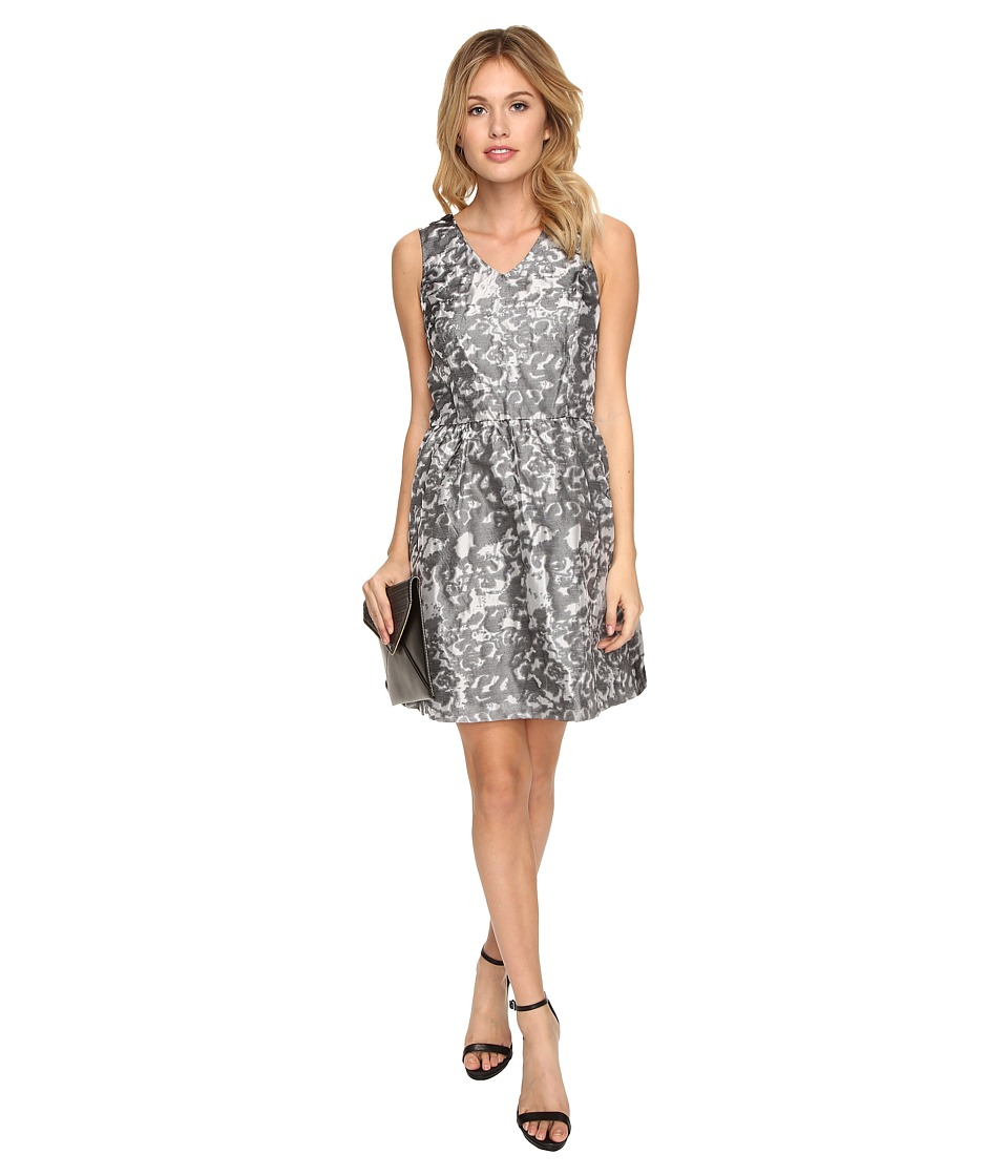 kensie Marble Brocade Dress KSDK7813 (Ivory Combo) Women