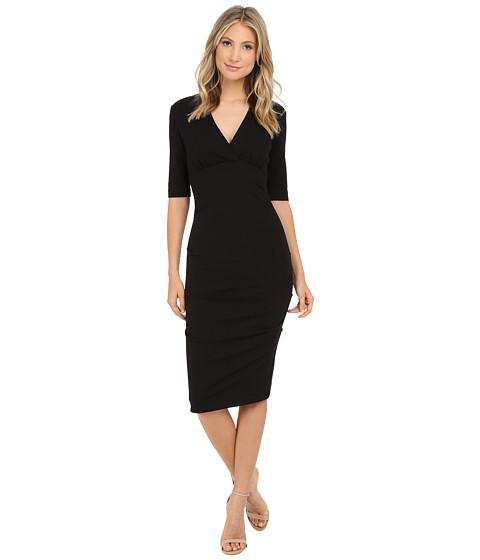 Nicole Miller - Joss Ponte Ruched Dress (Black) Women