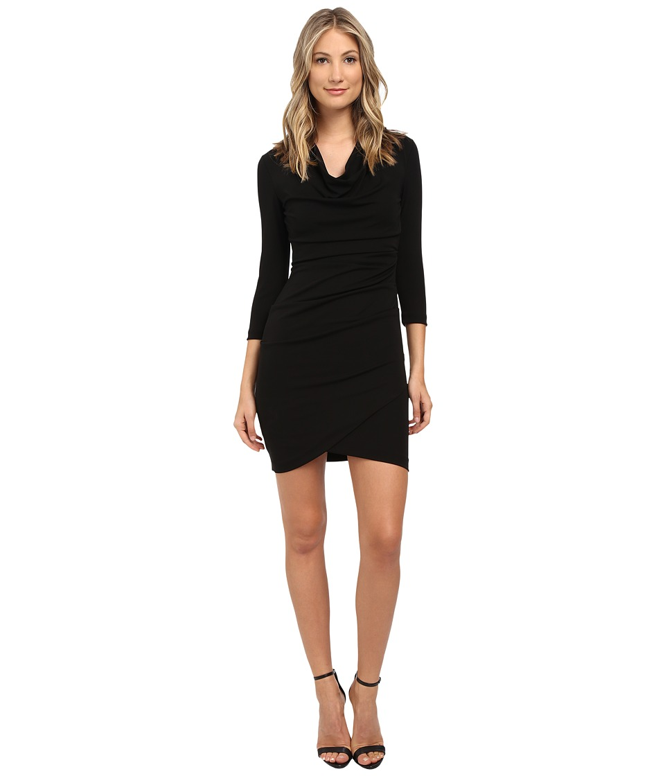 Nicole Miller Fin Black Jersey Dress (Black) Women