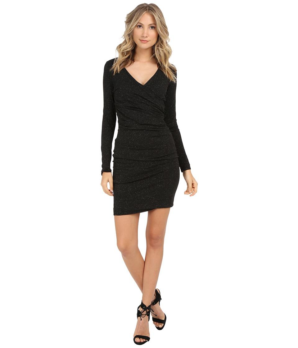 Nicole Miller - Sparkle Knit Surplus (Black) Women's Dress