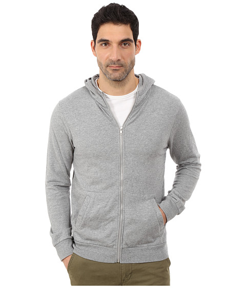 Alternative - Eco Micro Fleece Hideaway Zip Hoodie (Heather Grey) Men's Sweatshirt