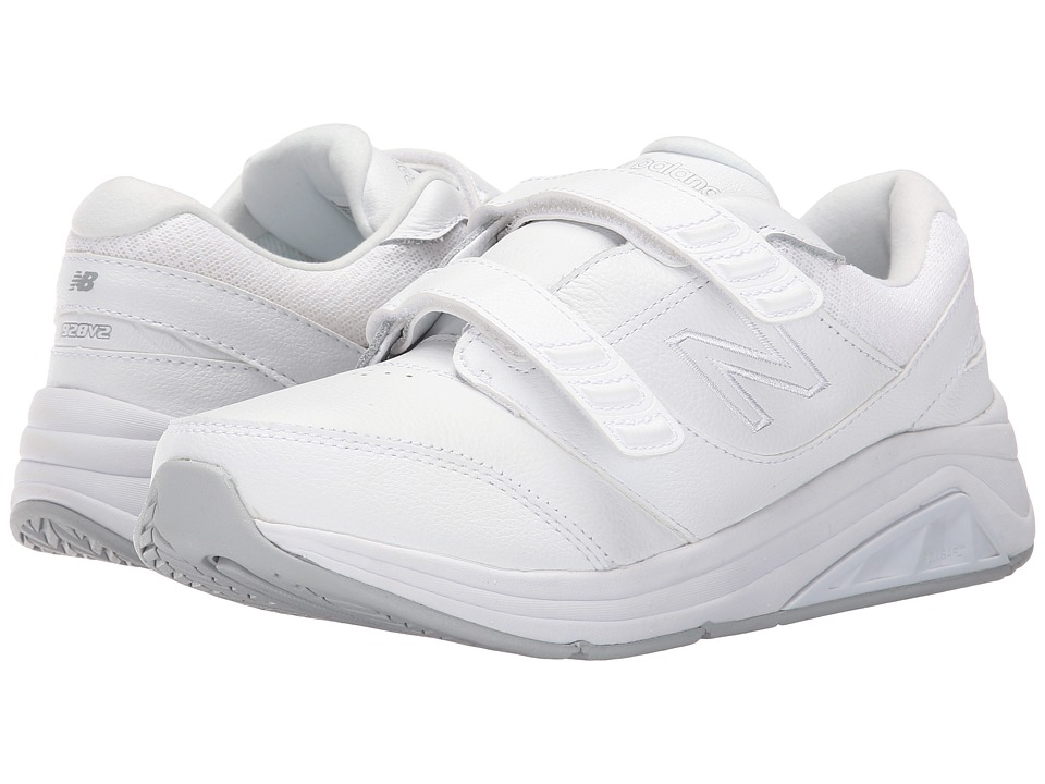 New Balance - WW928v2 Hook-and-Loop (White) Women's Walking Shoes