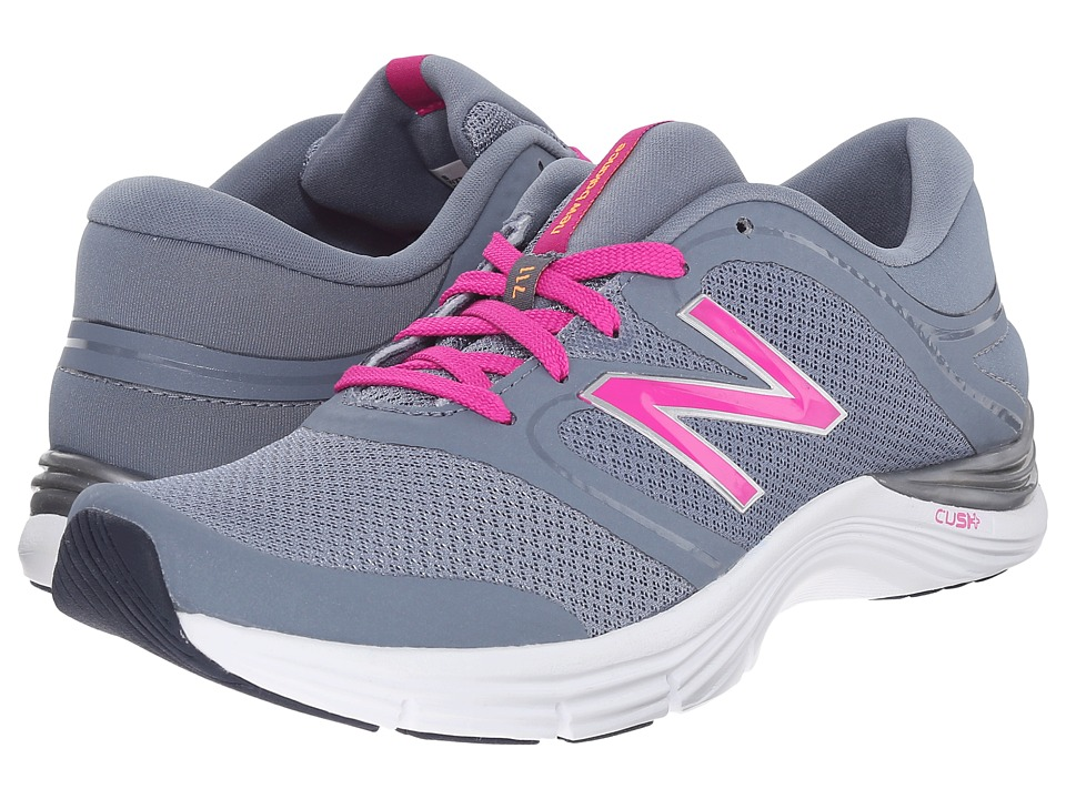 New Balance - WX711v2 (Grey/Pink) Women's Cross Training Shoes