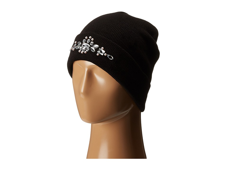 Betsey Johnson - Crown Jewels Beanie (Black) Beanies