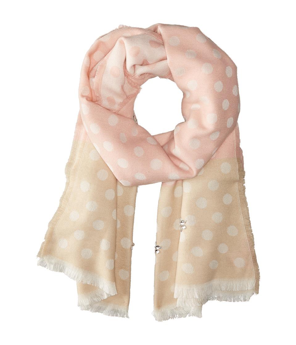 Betsey Johnson - Jeweled Dots Blanket Wrap (Blush) Scarves