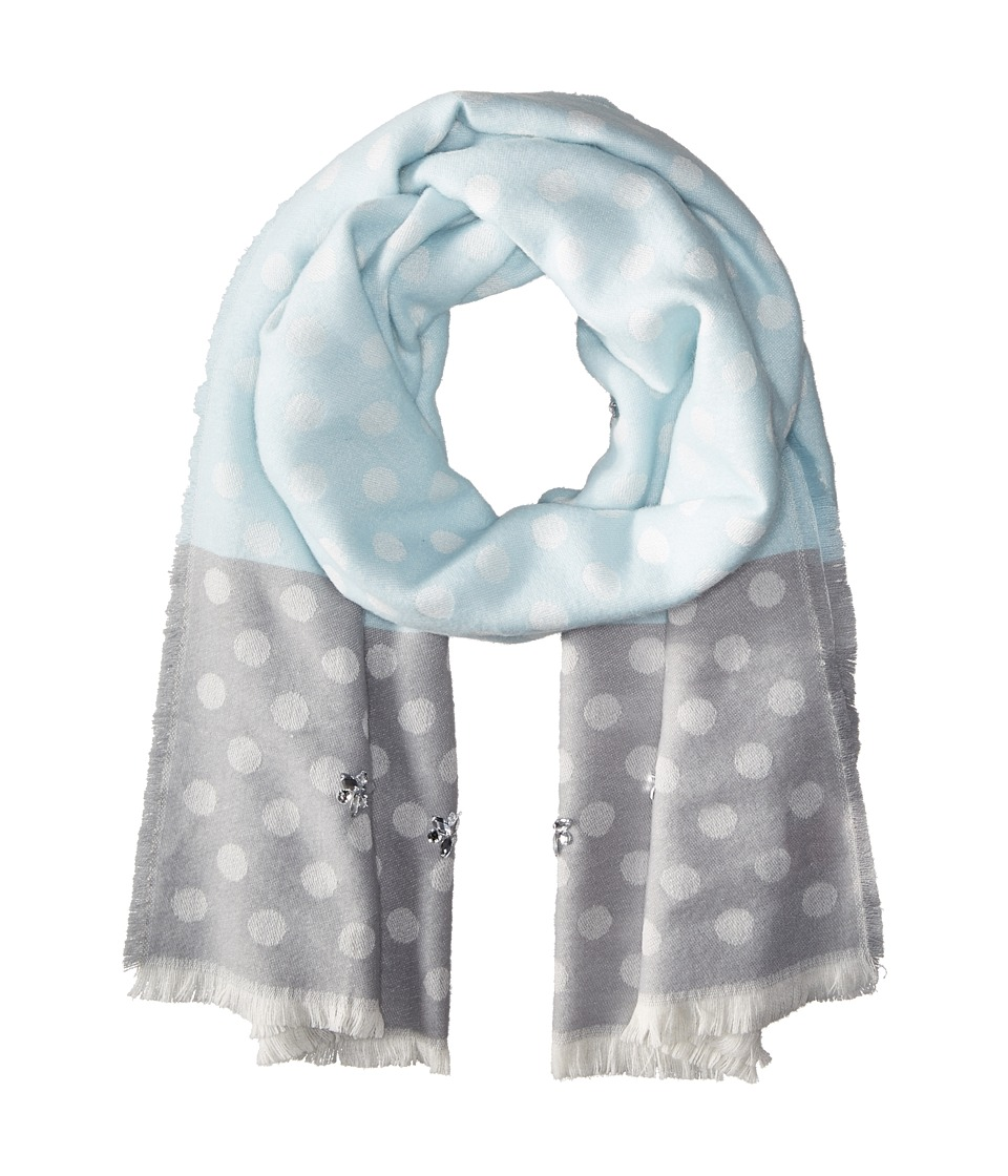 Betsey Johnson - Jeweled Dots Blanket Wrap (Sky) Scarves