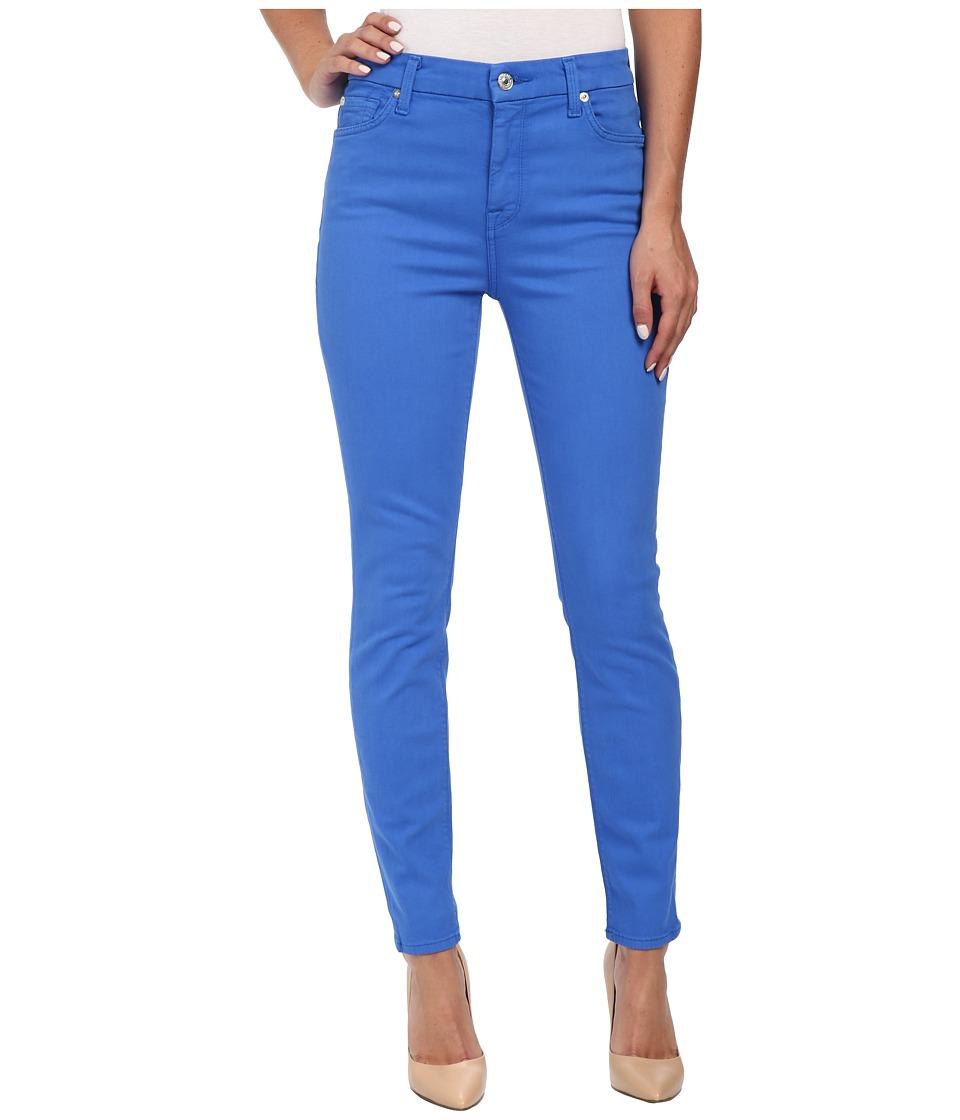 7 For All Mankind - 28 HW Ankle Skinny Jeans in Ultramarine (Ultramarine) Women