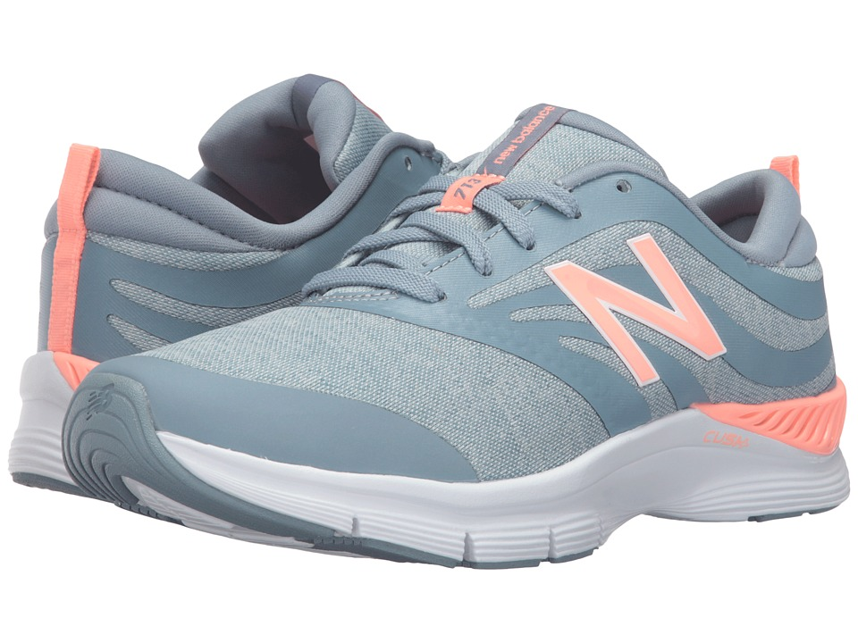 New Balance - WX713 (Grey/Coral) Women's Cross Training Shoes