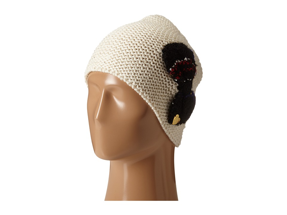 Betsey Johnson - Knit Bow Beanie (Ivory) Beanies