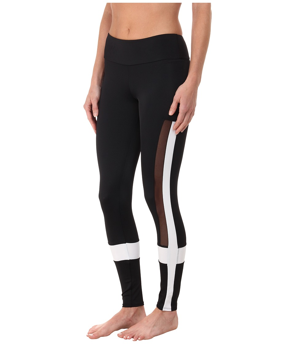Onzie - Power Leggings (Black/White/Mesh) Women's Casual Pants