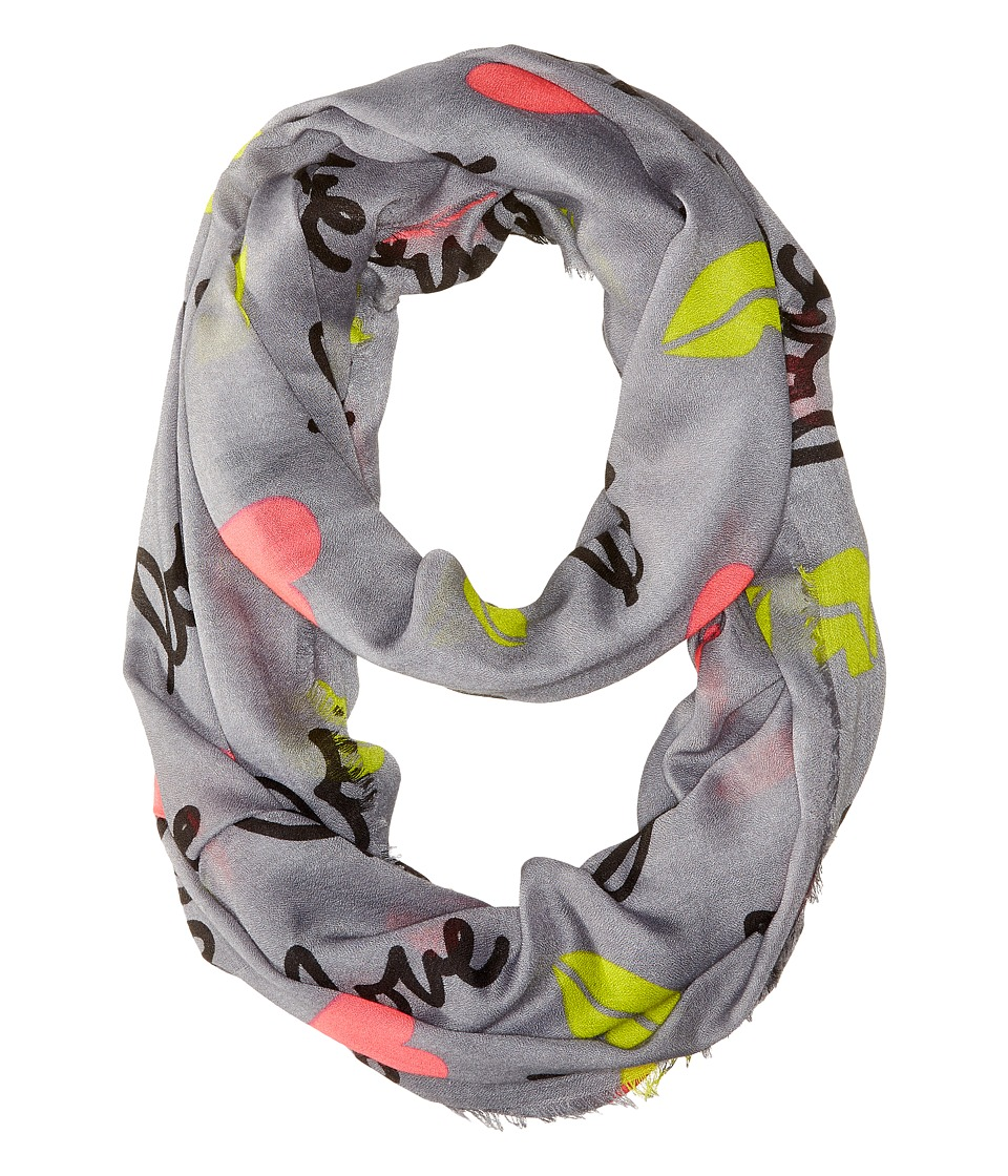 Betsey Johnson - Pop Art Loop (Grey) Scarves
