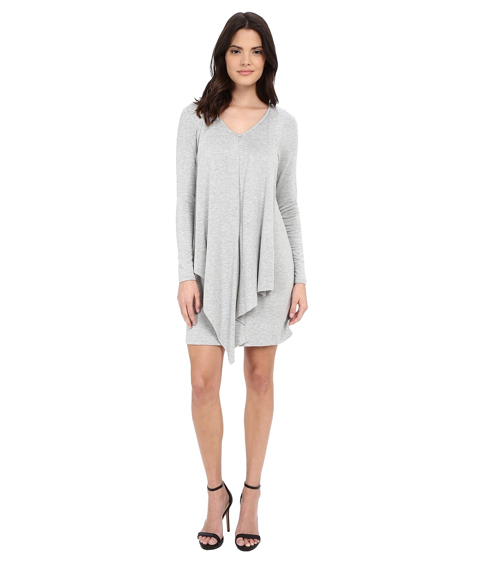 kensie Drapey French Terry Dress KSDK7892 (Heather Fog Combo) Women