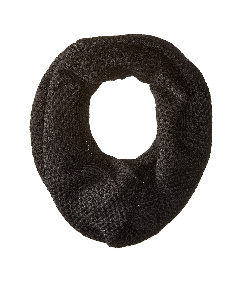 Michael Stars - Seed Stitch Cashmere Blend Eternity Scarf (Black) Scarves