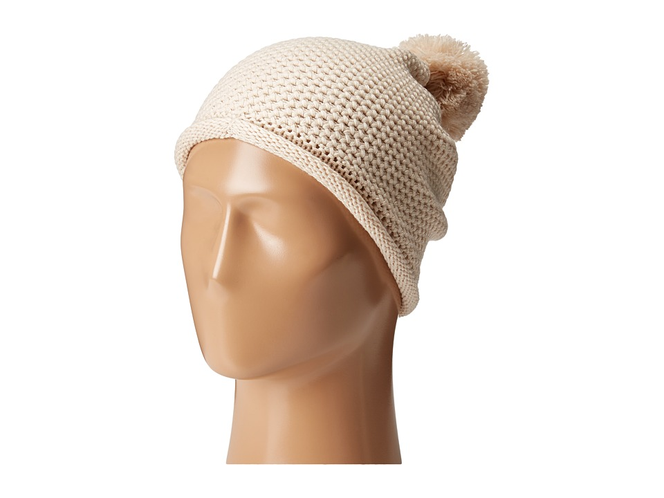 Michael Stars - Seed Stitch Cashmere Blend Hat (Porcelain) Beanies