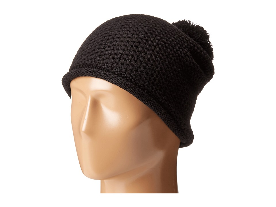 Michael Stars - Seed Stitch Cashmere Blend Hat (Black) Beanies