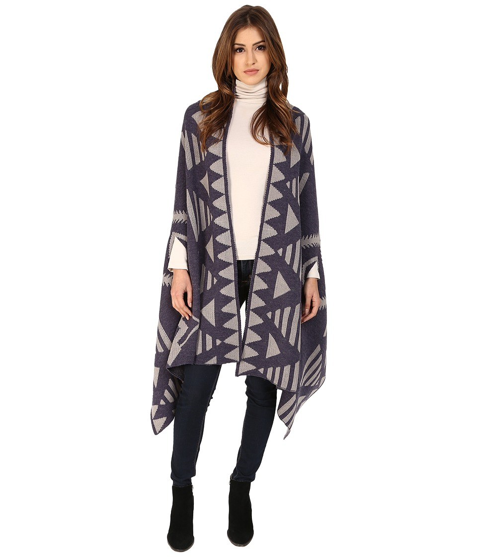 Michael Stars - Desert Triangle Reversible Knit Cape (Nocturnal) Women's Sweater