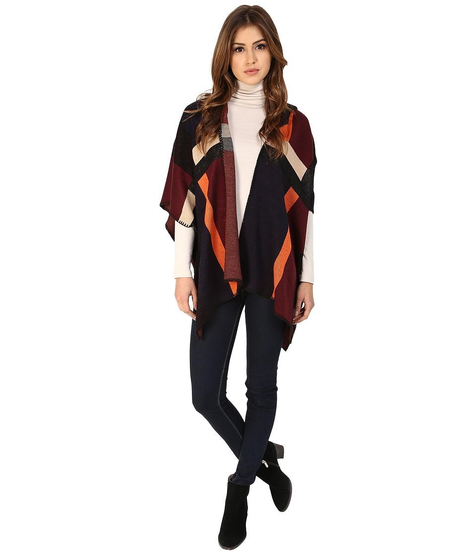 Michael Stars - Geometric Reversible Knit Cape (Black) Women's Sweater